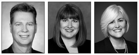 James Muehlberger, Jennifer Stevenson and Madeleine McDonough of Shook Hardy & Bacon