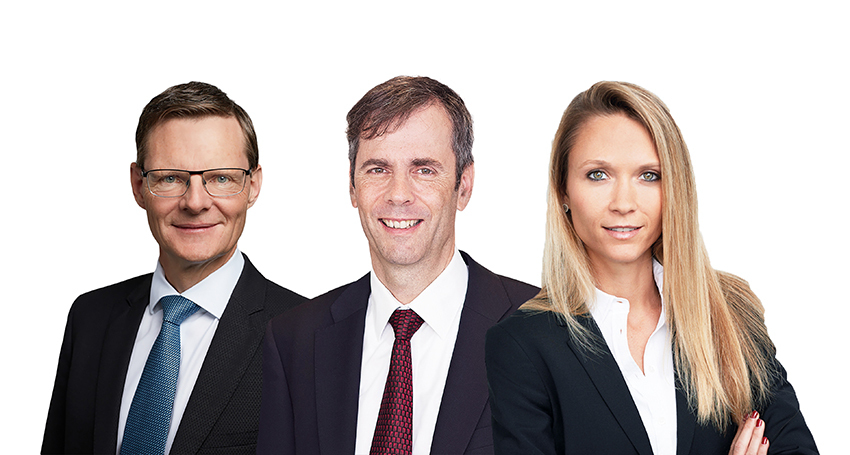 From left to right: Wolfgang Müller, Alexander Vogel and Denise Läubli