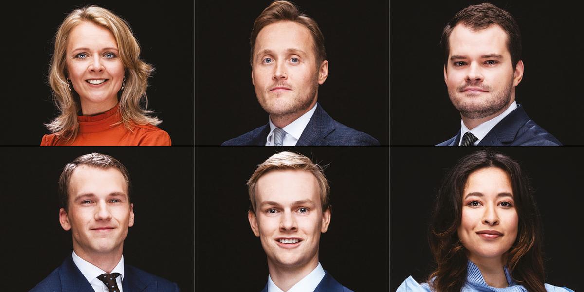 Susanne van de Pest, Marc Houweling, Tijn Slegers, Brim Tonino, Jan Borman and Adinda de Jonge